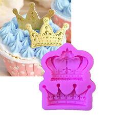 Crown von Princess Queen 3D Silicon Mold Fondant Cake Cupcake Dekoration Tool
