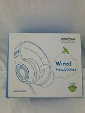Mpow CH6S PINK, Wired Headphone 85DB Limited Hearing Protection Headsets, open b