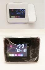 Digitaluhr Zeit Kalender Datum Temperaturanzeige Tischuhr mit Zeit Projektor