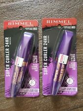 2pc Rimmel Super Curler 24hr Mascara 003 Extreme Black.