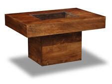 DAKOTA DARK MANGO FURNITURE SMALL PEBBLE COFFEE TABLE (83N)