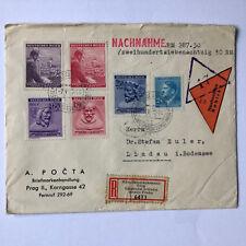 Deutsches Reich Böhmen und Mähren - schöne MiF R-Brief Nachnahme Prag auf Lindau