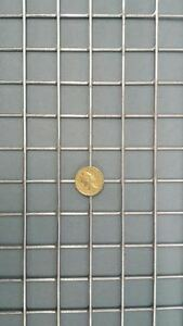 "10x Pack Galvanised Welded Wire Mesh Panels 1"" x 1"" mesh x 12swg/2.50mm"