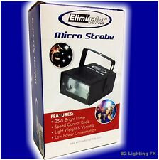 NEW! Micro Strobe by Eliminator Lighting! Brighter Party DJ Mini Flash 10wt NEW!