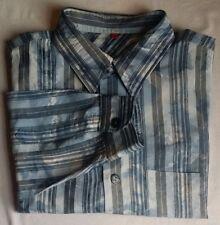 Camicie casual e maglie da uomo a manica lunga blu Signum