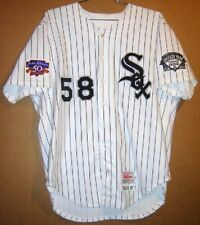 CHICAGO WHITE SOX MARK SALAS WHITE PINSTRIPE 1997 MLB JERSEY f619341f0