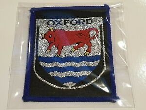 Oxford Patch University Bull College UK Europe England Cambridge London Vintage.