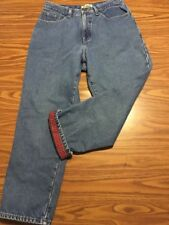 LL Bean Flannel Lined Jeans Size 12P