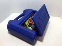 "Knex Blue Box Carrying Case Building Set 14""x10"" full of K'NEX connectors, rods"