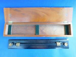 Antique Draftsman's Rolling Parallel Ruler in Wood  Box 1930s Kilpatrick & Co