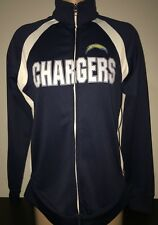 LOS ANGELES CHARGERS NFL Team Apparel Esystems Lightweight Womens Track Jacket M