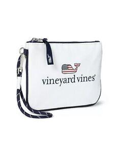 NWT Vineyard Vines For Target White Wristlet American Flag Whale