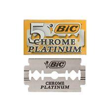 5 Hojas de afeitar cuchillas BIC Chrome Platinum  Razor Blades