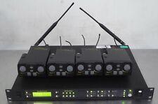 T169692 Telex RadioCom Btr-800 Uhf Wireless Intercom + (4) Tr-825 Beltpack Units