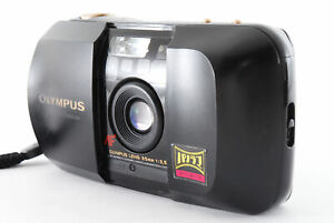[Exc+5] Olympus μ Mju Panorama Black 35mm f/3.5 Point & Shoot From JAPAN A520