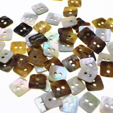 "Lot 20 20L 1/2"" Japan Natural Real Pearl Shell Square Sewing Button Crafts DIY"
