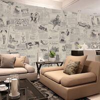 Retro Zeitung Wand Aufkleber PVC Selbstklebend Tuch Kunst Decals Wohnzimmer Deko