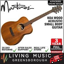 NEW Martinez Koa Wood Small Body Folk Acoustic Guitar (Natural Satin)