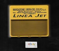 LINEA JET FAST FERRY NAVIGAZIONE LIBERIA DEL GOLFO NAPOLI ASH TRAY PLASTIC 1990