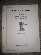 Johnson Outboard Parts Catalog Manual 1962 Sea Horse 25 HP RD-17S&R RDL-17S&R