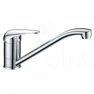 Solid Handle Chrome Brass Kitchen Laundry Swivel Mixer Tap - 5 Yrs Warranty