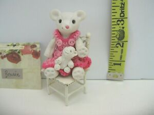 "Porcelain Teddy Bear doll ""Bennie"" handmade crochet plus baby accessories"
