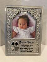 Baptism Prayer Frame-silver