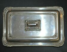 Vintage James Dixon & Sons EP Covered Serving Dish W/Handle ca 1881- early 1900s