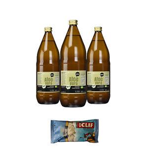 11,50€/L Wohltuer Bio Aloe Vera Saft frisch naturtrüb (3 x 1L + Clif-Riegel)