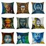 "18x18"" Throw Pillow Covers Buddha Old Wisdom Budha Lotus Decorative Cushion Case"