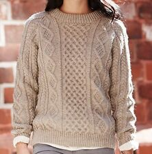 e16b7472d KNITTING PATTERN - BEAUTIFUL LADIES CABLE SWEATER  JUMPER IN ARAN BUST 28
