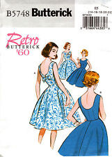 Retro 60s Dress Sewing Pattern 14-22 Misses Butterick 5748
