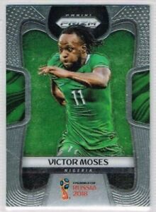BASE CARD PANINI SOCCER PRIZM WORLD CUP RUSSIA 2018 N.144 MOSES NIGERIA