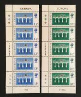 Guernsey. Europa Stamp Set. Strip of 5 with corners. SG292/293. 1984. MNH. LC376