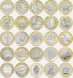 Cheapest £2 Collection Coins - Shakespeare Austin Darwin World War - RARE COINS
