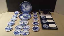 Royal Copenhagen Christmas Plates Collection (20 pcs)