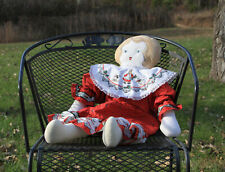 Large Collectible Vintage Antique Rag Doll