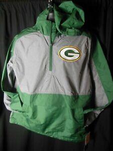 Green Bay Packers NFL Men's G-III 1/4 Zip Pullover Hooded Windbreaker Jacket