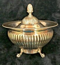 Antique 800 Silver Bowl With Lid