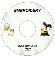 NEW EMBROIDERY MACHINE DOGS DESIGNS ON DVD / CD PES BROTHER INC 71 PHOTOSTITCH