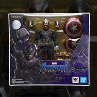 Avengers Endgame S.H. Figuarts Action Figure Captain America Final Battle Bandai
