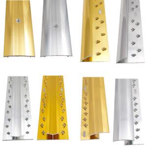 CARPET DOOR BAR TRIMS - METAL THRESOLD BARS SILVER & GOLD 90cm LENGTH