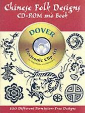 NEW!  Chinese Folk Designs CD-ROM and Book (Dover Electronic Clip Art)