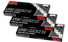 RK Chain 525 MAX-Z RX-Ring Sealed Motorcycle Chain 130 Links Gold 525MAXZ-130-GG