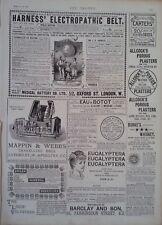 1888 ADVERT ALLCOCK'S POROUS PLASTERS-BURKE'S WHISKY-SODEN MINERAL PASTILLES