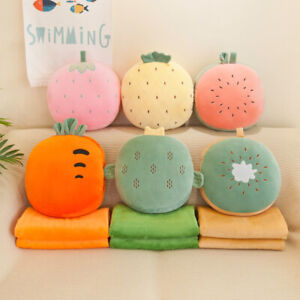 New Fruit Quilt Flannel Blanket Hand Warm Pillow Surrounded By Plush Toys Gift
