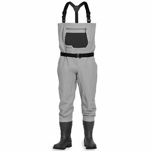 NEW MENS ORVIS CLEARWATER FELT BOOTFOOT WADER IN SIZE LARGE WITH #11 BOOTS