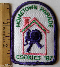 Girl Scout 1987 COOKIE SALE PATCH Hometown Parade Drum Major Drummer Selling