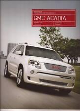 2012 12  GMC Acadia  original sales  Brochure MINT