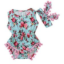 Baby Girl Romper Outfit Clothes Sunsuit Outfits Newborn Infant Floral Jumpsuit